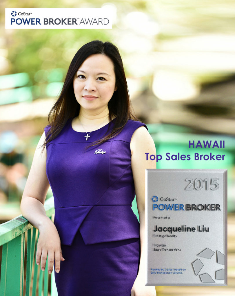 Power Broker Award - Jacqueline Liu (PB) - Prestige Realty Hawaii